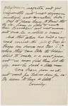 Partial transcription of Emily Dickinson letter