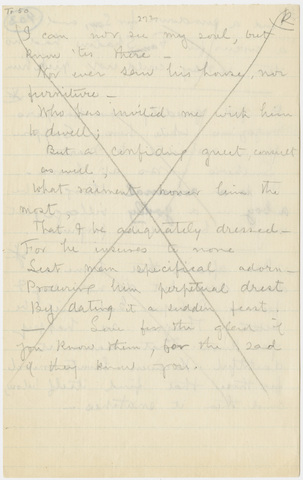 Transcription of extracts of Emily Dickinson letters to Frances and Louisa Norcross
