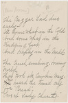 "Transcription of Emily Dickinson's ""The beggar lad dies early"""