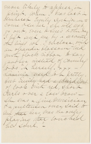 Lydia Avery Coonley letter to Mabel Loomis Todd