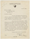 Harry Stone letter to Millicent Todd Bingham, 1935 April 27