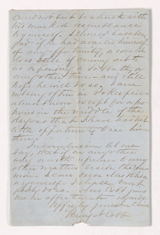 Henry Nitchie Cobb letter to Justin Perkins, 1868 March 23