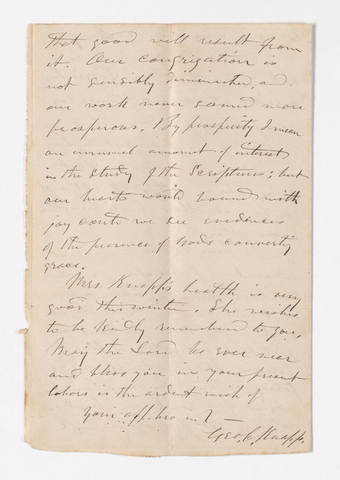 George C. Knapp letter to Justin Perkins, 1863 February 18