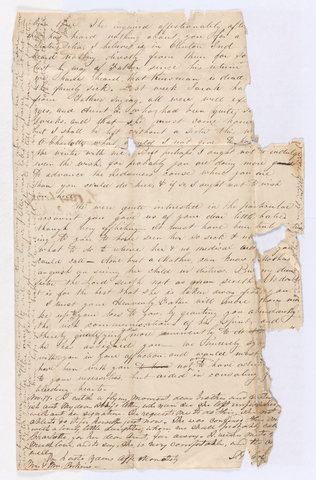 Abby Bass Cozzens letter to Charlotte Bass and Justin Perkins, 1835 September 1 to November 17