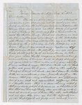 Samuel Woodworth Cozzens letter to Justin Perkins, 1852 December 4 to 6