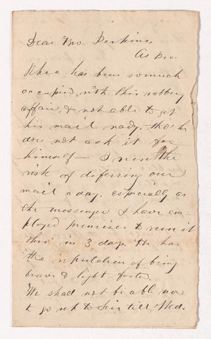 George Whitefield Coan letter to Justin Perkins
