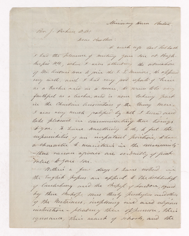 Nathaniel George Clark letter to Justin Perkins