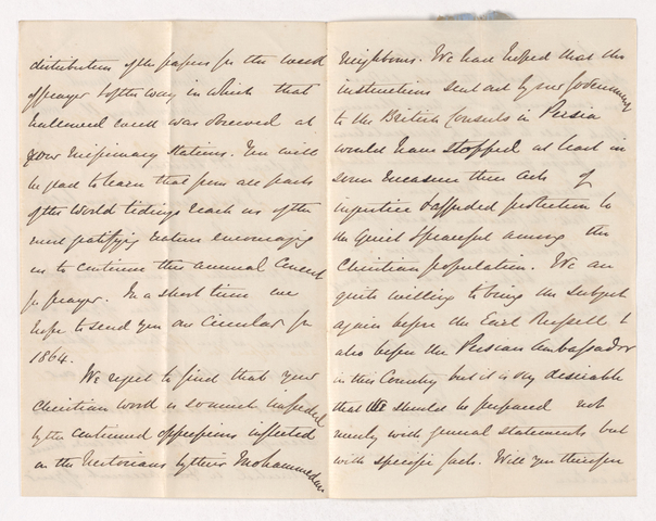 James Davis letter to Justin Perkins, 1863 May 11