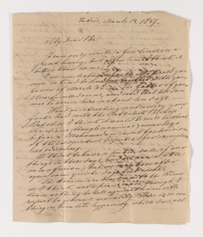 Friedrich Haas letter to Justin Perkins, 1837 March 13