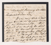 Letter fragment from unidentified correspondent to Justin Perkins, 1862 January 12