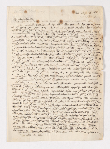 Charles G. Barth letter to Justin Perkins, 1856 July 19