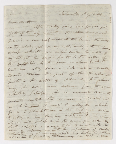 Edward Breath letter to Justin Perkins, 1846 May 10