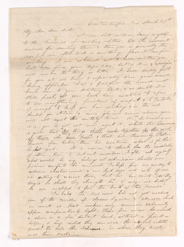 Elizabeth Barker Dwight letter to Charlotte Bass Perkins, March 29