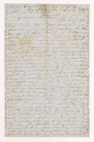George C. Knapp letter to Justin Perkins, 1868 March 25
