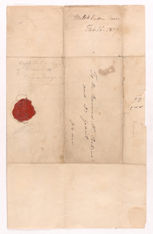 Malek Kassem Mirza letter to Justin Perkins and Asahel Grant, 1837 February 16