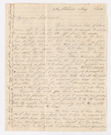 Abby Bass Cozzens letter to Charlotte Bass and Justin Perkins, 1836 May