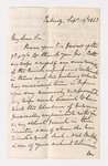 Keith Edward Abbott letter to Justin Perkins, 1863 September 19