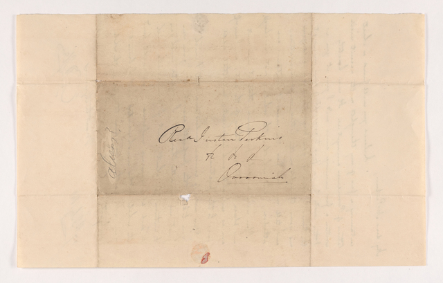 Letter from unidentified correspondent to Justin Perkins with enclosure, 1840 February 17