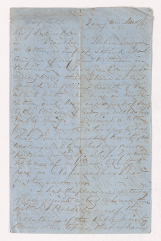 Henry Nitchie Cobb letter to Justin Perkins, 1863 December 1