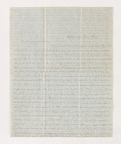 Mary Pomeroy Dutton letter to Justin and Charlotte Bass Perkins, 1854 June 1