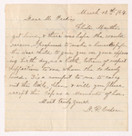Deborah Plumb Cochran letter to Justin Perkins, 1864 March 12