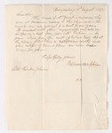William Campbell letter to Mar Yohannan and Justin Perkins, 1842 August 18