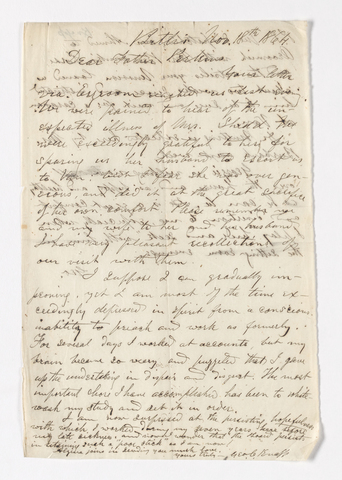 George C. Knapp letter to Justin Perkins, 1864 November 18
