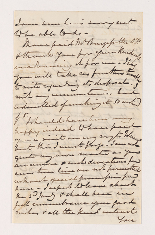 Letter from unidentified correspondent to Justin Perkins, 1846 December 8