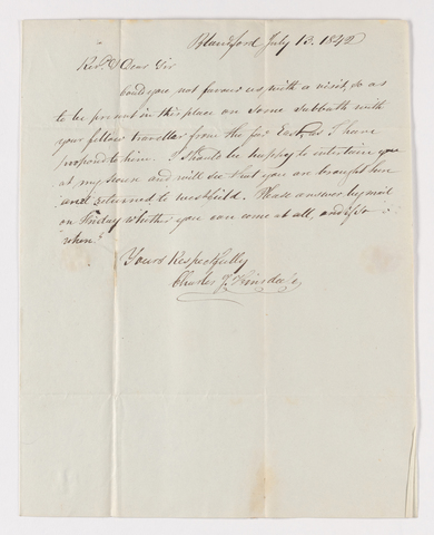 Charles James Hinsdale letter to Justin Perkins, 1842 July 13