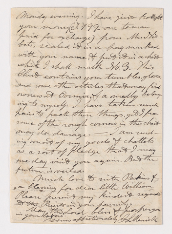 James Lyman Merrick letter to Justin Perkins, 1836 May 22 and 23