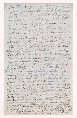 George C. Knapp letter to Justin Perkins, 1863 November 2