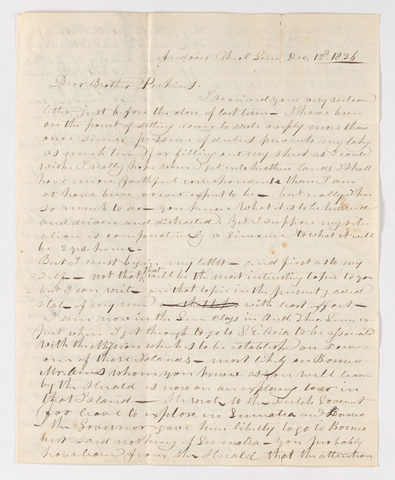 Ebenezer Burgess letter to Justin Perkins, 1836 December 12 to 1837 January 2