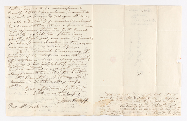 Issac, Eliza Hale, and Caroline Knapp letter to Justin and Charlotte Bass Perkins, 1839 June 26