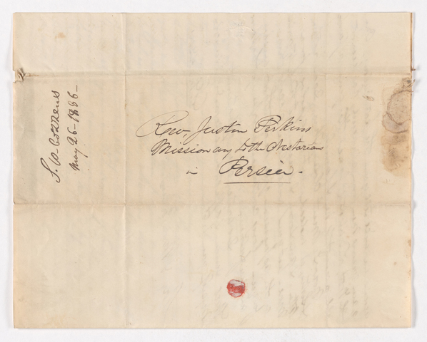Samuel Woodworth Cozzens letter to Justin and Charlotte Bass Perkins, 1836 May 26