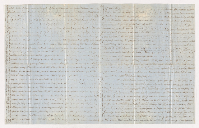 Mary Pomeroy Dutton letter to Justin and Charlotte Bass Perkins, 1851 February 27 to March 4