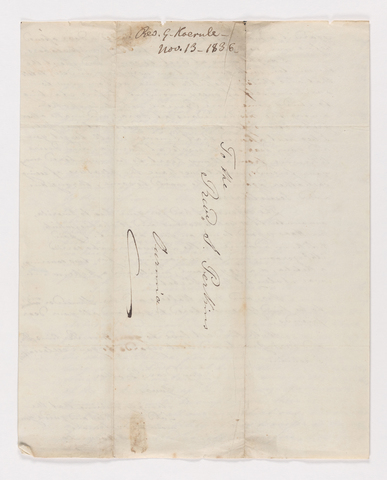 Christian Gottlieb Hoernle letter to Justin Perkins, 1836 November 13