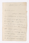 Letter from unidentified correspondent to Justin Perkins, 1852 August 28