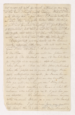Elizabeth Dickinson letter to Justin Perkins