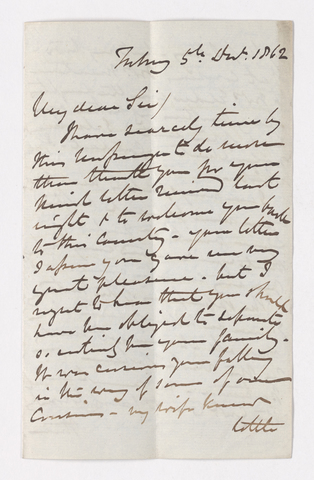 Keith Edward Abbott letter to Justin Perkins, 1862 December 5