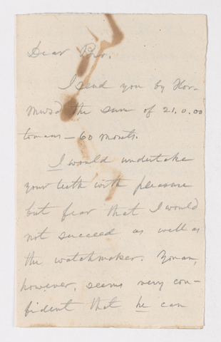 Edward Breath letter to Justin Perkins