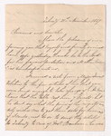 P. Clarendon letter to Justin Perkins, 1837 November 21