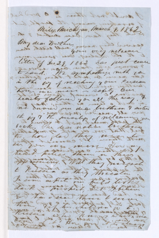 George Whitefield Coan letter to Justin Perkins, 1862 March 9