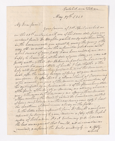 William Glen letter to Justin Perkins, 1848 May 27