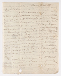 Keith Edward Abbott letter to Justin Perkins, 1837 October 9