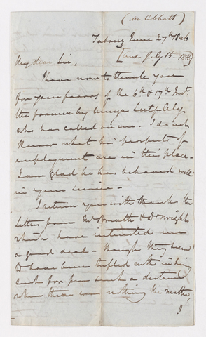 Keith Edward Abbott letter to Justin Perkins, 1846 June 27
