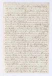 Aura Jeannette Beach letter to Justin Perkins, 1862 October 25