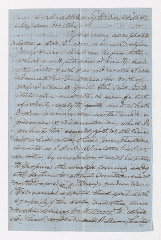 Samuel Woodworth Cozzens letter to Justin Perkins, 1867 December 24