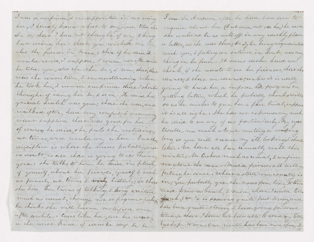 Sarah Bass Crehore letter to Justin Perkins, 1863 February 24 and March 3