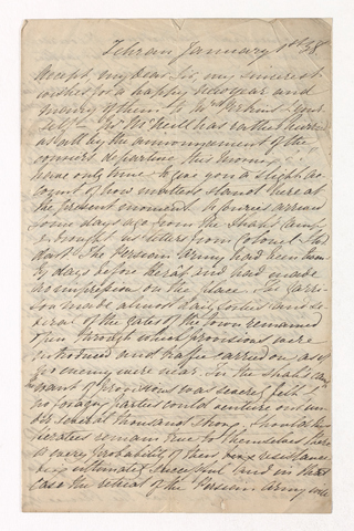 Richard Wilbraham letter to Justin Perkins, 1838 January 1