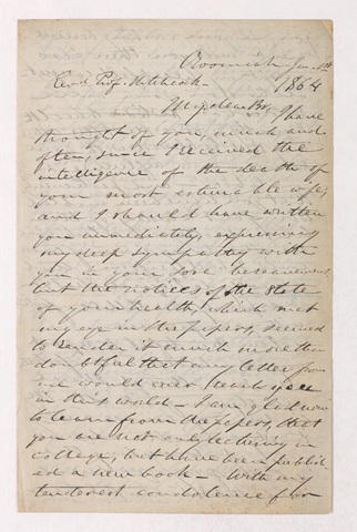 Justin Perkins letter to Edward Hitchcock, 1864 January 1
